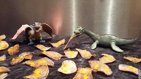 Chips de vitelotte à la mimolette ou mues de dragon ?