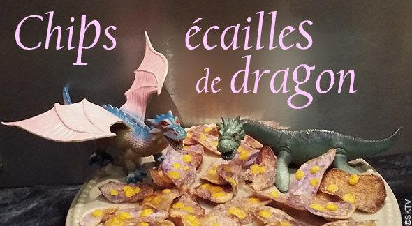 Chips de vitelotte écailles de dragon