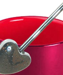 Set mug et cuiller à thé rouge cerise : une belle idée cadeau pour Maman !
