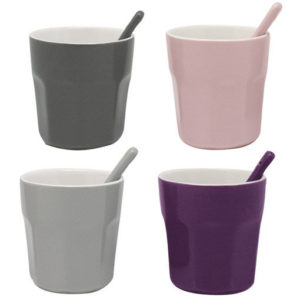 Coffret 4 gobelets céramique avec cuillers