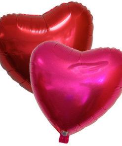 Ballon alu St Valentin rouge ou rose chatoyant : une belle idée cadeau !