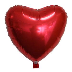 Ballon alu St Valentin rouge
