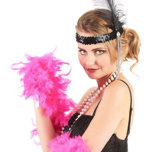 Boa cabaret rose fuchsia : accessoire de déguisement