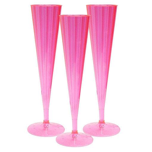flûtes à champagne roses : le lot de 10
