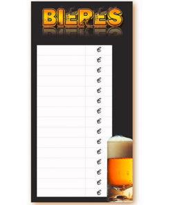 Tarif bières à suspendre