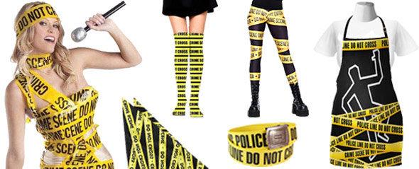Articles vestimentaires utilisant le motif Ruban Scène de Crime