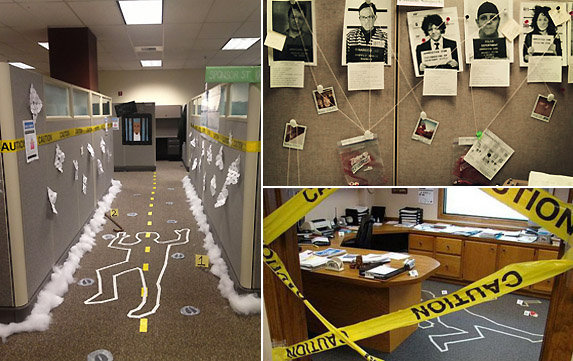 Idées blagues de bureau avec du Ruban Scène de Crime