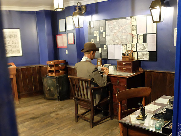 Musée Jack l'Eventreur : vue du commissariat de Frederik Abberline au 3ème étage