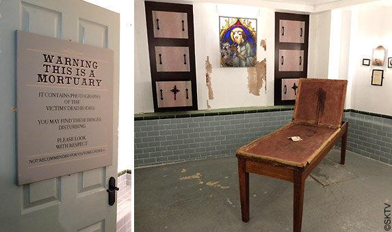 Musée Jack l'Eventreur : vue de la morgue du sous-sol