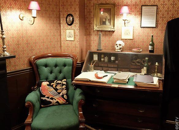 Musée Jack l'Eventreur : une autre vue du salon du tueur, au deuxième étage