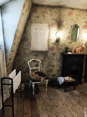 Musée Jack l'Eventreur : reconstitution de la chambre de la victime