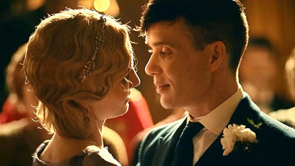 Citations Peaky Blinders Saison 3 : image du mariage de Tommy et Grace