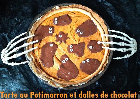 Tarte au Potimarron et dalles de chocolat : une pumpkin pie revisitée !