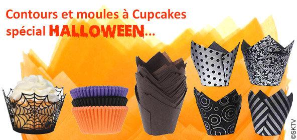 Shopping contours et caissettes à cupcakes spécial halloween