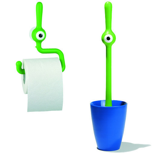 Accessoires WC dérouleur papier et brosse KOZIOL