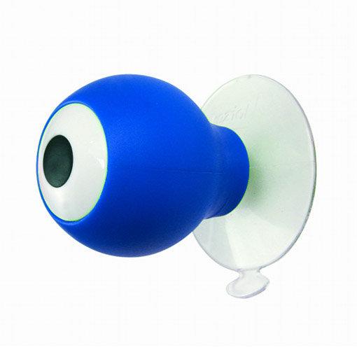 Patère design Koziol forme oeil rond bleu