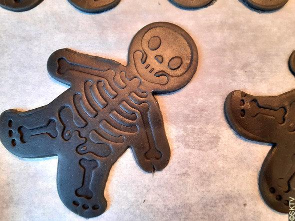 Sablés squelettes d'halloween : même pas peur !