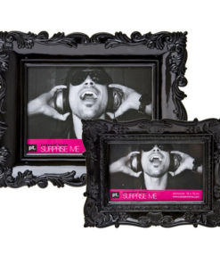 cadre photo baroque finition noir brillant