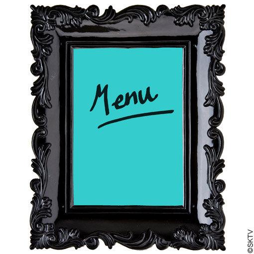cadre photo baroque 13x18cm utilisé en porte-menu