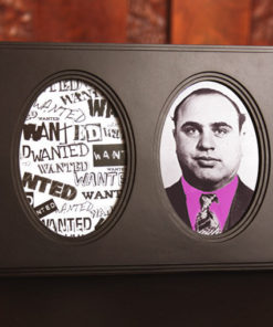 Cadre photo médaillon pas cher, avec photo Al Capone