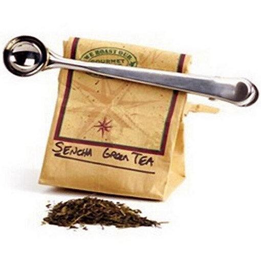 Clip doseur thé café 2 en 1 : à la fois cuiller doseuse et pince pour sachet