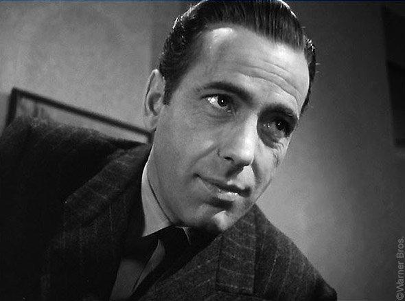 Le Faucon maltais, photo du film de John Huston : portrait de Sam Spade (Humphrey Bogart)