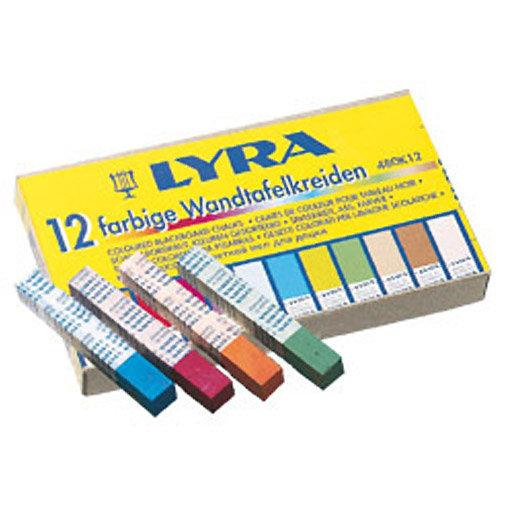 Etui de 12 craies couleur carrées Lyra sur fond blanc