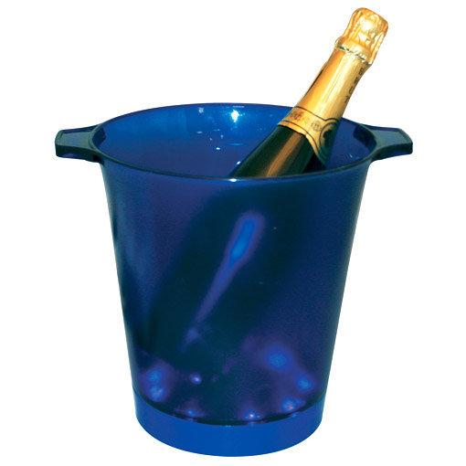 seau à champagne led bleu
