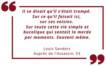 Auprès de l'Assassin de Louis Sanders : citation page 53