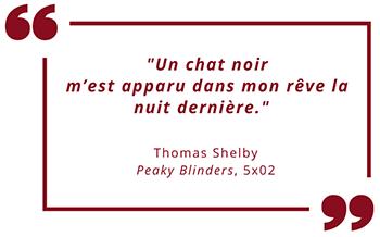 """Citation Peaky Blinders Saison 5 : """"Un chat noir m'est apparu..."""""""