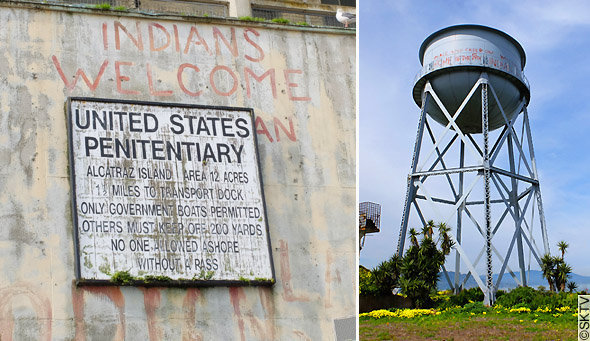 Alcatraz : vestiges de l'occupation indienne de 1969-1971