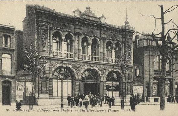 Quartier des Longues Haies à Roubaix en 1892 : carte postale de l'Hippodrome théâtre