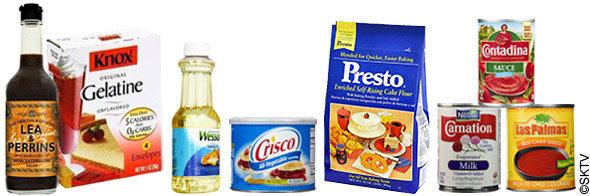 Recettes d'Alcatraz : quelques-un des produits alimentaires utilisés dans les recettes