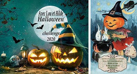 Logos des Challenges Halloween 2020 et Les Gourmandises de Syl