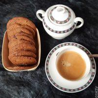 Cookies au café, pépites de chocolat et cristaux de sel…