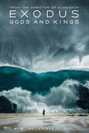 Cimetière marin de Cofete ; l'affiche du film Exodus : Gods and Kings, tourné sur place
