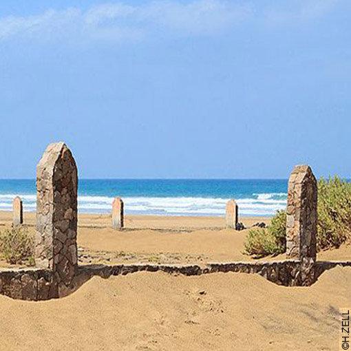 Cimetière marin de Cofete : l'enclos face à la mer