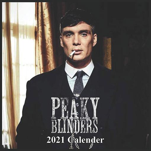 Calendriers séries télé 2021 : portrait de Tommy Shelby sur la couverture d'un calendrier