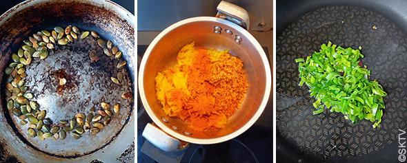 Soupe courge spaghetti : gros plan sur les ingrédients